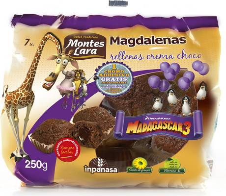 Foto de Magdalenas rellenas de chocolate