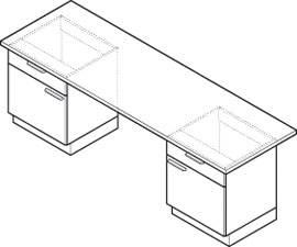 Foto de Mesas con mueble portante