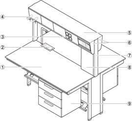 Foto de Estructuras técnicas puente para mesa central