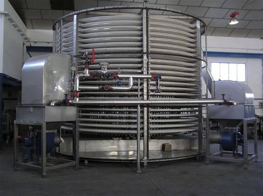 Foto de Espirales para la congelación y deshidratación de productos alimentarios