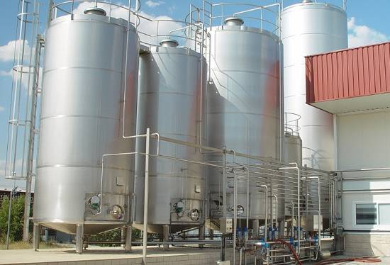 Foto de Depósitos de almacenamiento de lácteos