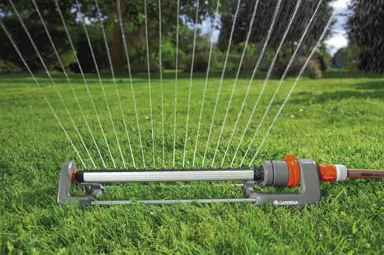 Aspersores oscilantes gardena polo 280 classic for Aspersores de riego para jardin