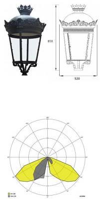 Foto de Iluminadores imitando forma de las farolas