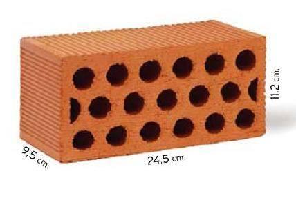 Ladrillos perforados utzubar ac stico b52 materiales - Precios de ladrillos para construccion ...