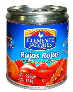 Foto de Chiles jalapeños en rajas rojas