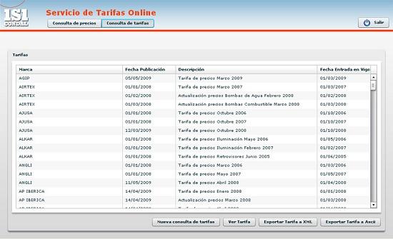 Foto de Servicio de tarifas online