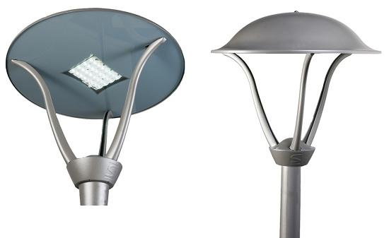 luminarias de exterior schreder isla led equipamiento