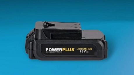 "<i class=""fa fa-play-circle-o""></i> Power Plus máquina con bateria de Lithium-Ion de 18 voltios intercambiable"