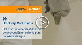 Vídeo Soluciones BASF para la impermeabilización por proyección en caliente en depósitos de agua