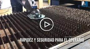 Vídeo Mecos - Pulidora de peines de la mesa láser