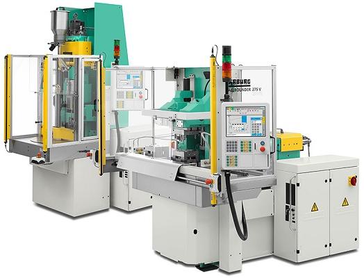 Vertical injection molders Arburg Allrounder verticales - Plastics
