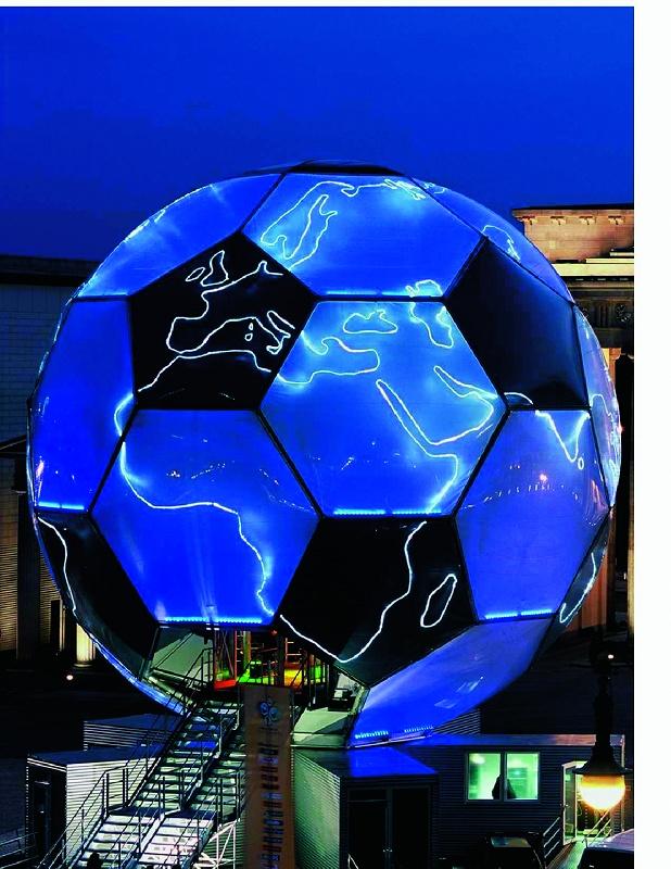 """Foto de """"El """"globo terráqueo futbolístico"""" en plástico"""""""