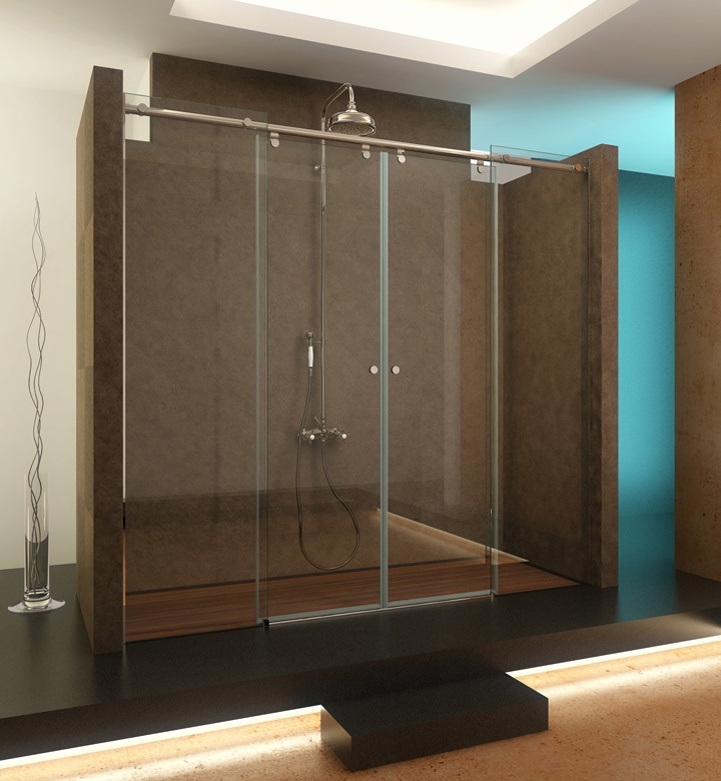 Mamparas para ducha angra atlanta d2p 2f materiales para for Mamparas para sanitarios