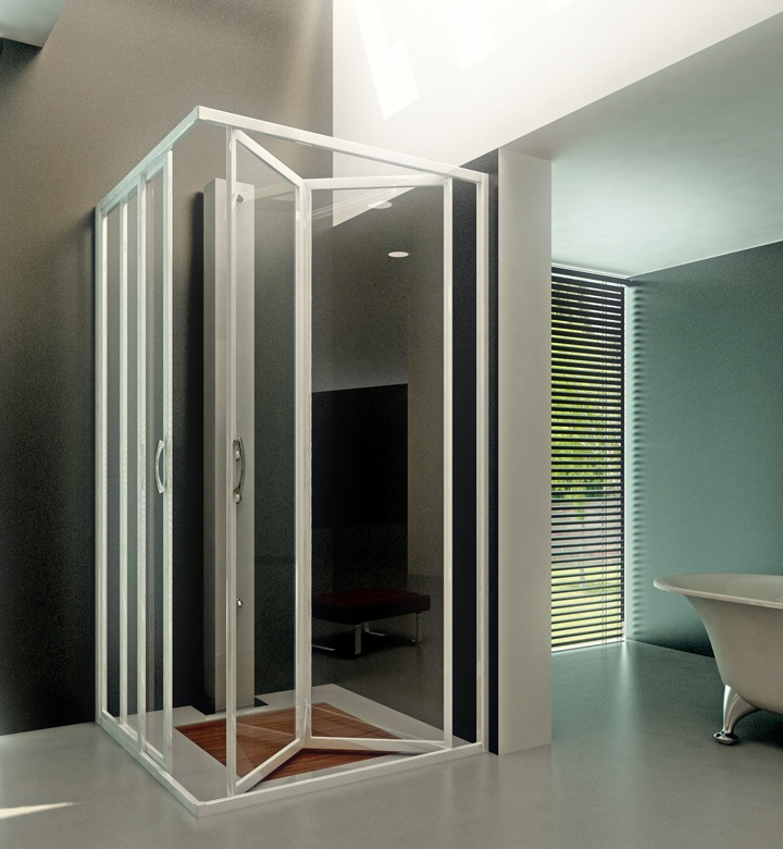 Mamparas para ducha angra lineal dev materiales para la - Mamparas de ducha plegables ...