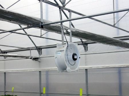 ventiladores para invernaderos