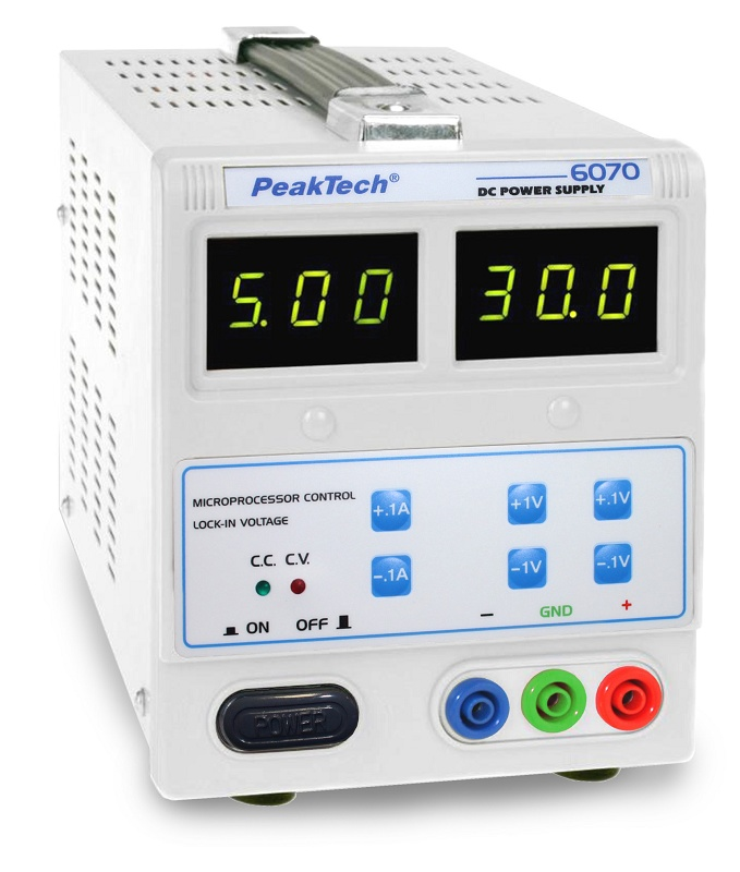 Power supplies PeakTech P6070 - Plastics and Rubber - Power supplies