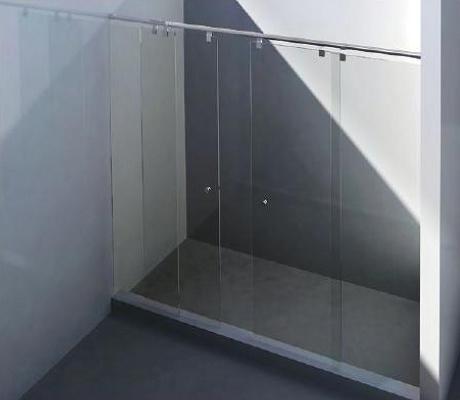 foto de mamparas correderas entre dos paredes