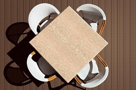 Tableros de mesa werzalit scena terra materiales para la - Tableros para mesas ...