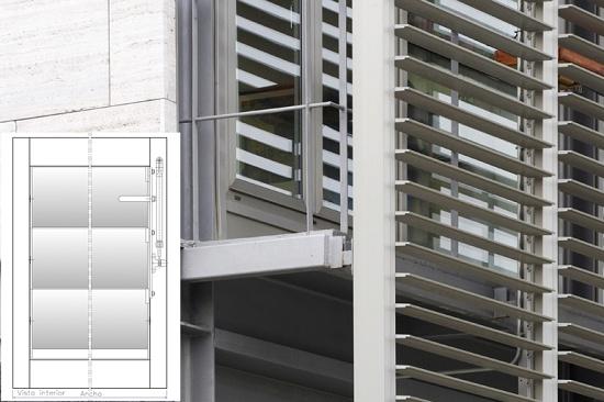 Persianas de aluminio llamb p alu 150 materiales para - Lamas persianas aluminio ...
