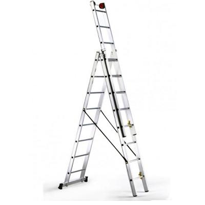 Escalera de alumino de tijera extensible agricultura for Escaleras extensibles