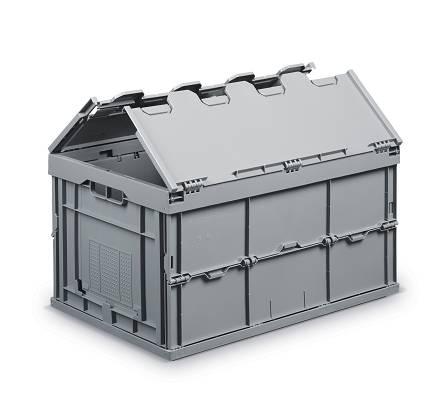 Cajas de pl stico plegables nettuno almacenaje y for Cajas de plastico plegables