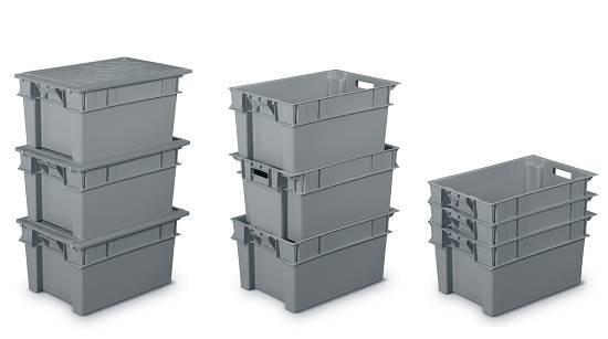 Cajas de pl stico apilables y encajables minerva - Cajas de plastico ...