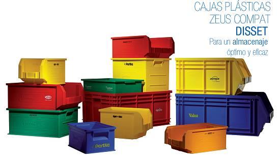 Cajas de pl stico apilables disset zeus compat - Cajas decorativas para almacenar ...