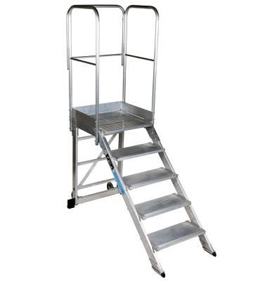 Escaleras con plataforma m viles ktl max ferreter a - Escaleras para almacen ...