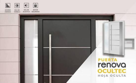Puertas de entrada a viviendas particulares renova ocultec for Catalogo puertas aluminio exterior