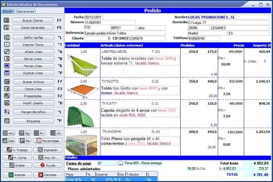 Software para toldos - Materiales para la construcción - Software ...