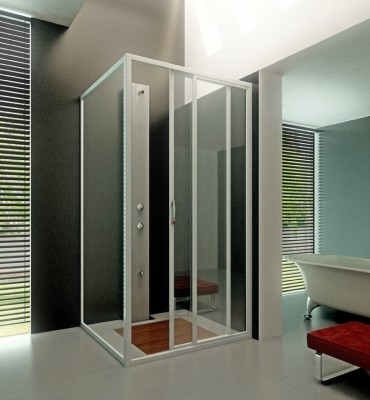 Mamparas para ducha angra lineal corredera d1p 2f ang - Mamparas acrilicas para ducha ...