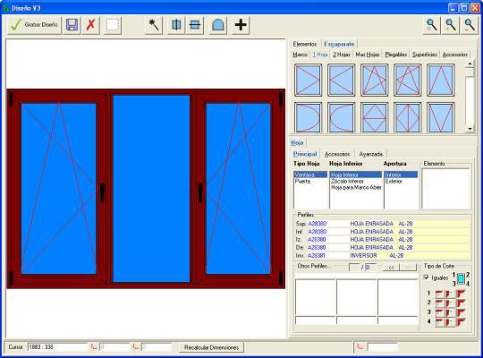 Programa para fabricantes de ventanas puertas y for Software para diseno de muebles y optimizacion de corte gratis
