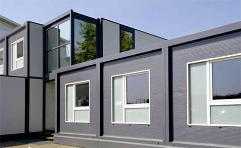 Oficinas prefabricadas algeco materiales para la for Construccion de oficinas modulares