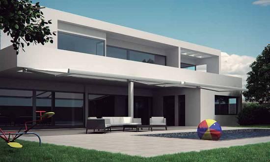 Toldos para terrazas novelty cofre luxor materiales para for Toldos corredizos para terrazas