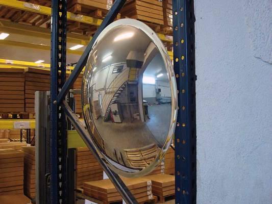 Espejos de media esfera verticales seguridad espejos for Espejos de seguridad