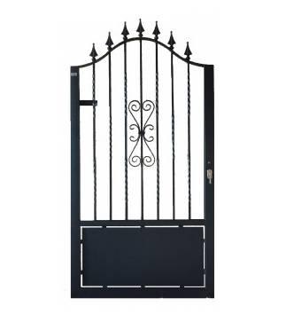 Puerta de hierro peatonal teide materiales para la - Puertas metalicas jardin ...