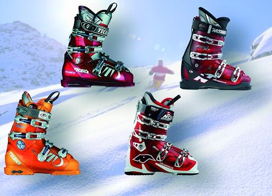 """Foto de """"Botas de esquí brillantes y precisas"""""""