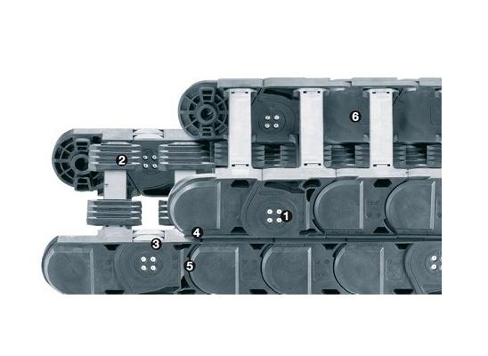 Foto de Cojinetes plásticos en cadenas portacables