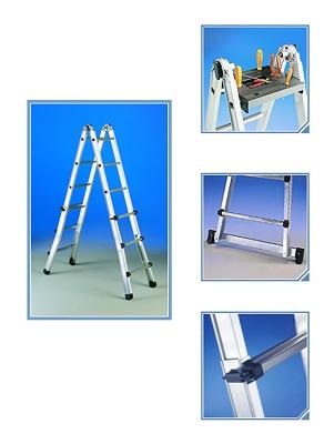 Escaleras telesc picas y multiusos escal sima obras for Escalera multiusos