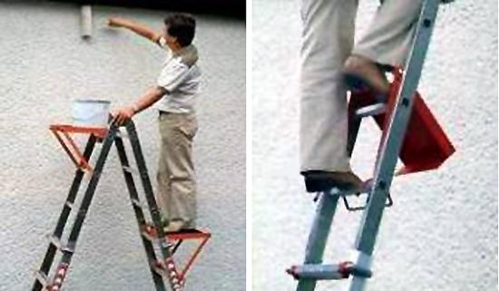 Plataforma para colgar en escalera wak ferreter a for Escaleras con plataforma precios