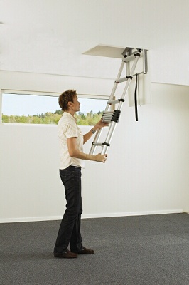 para espacios reducidos foto de escalera de aluminio anodizado