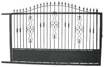 Puerta corredera de hierro matagalls materiales para la for Puertas corredizas metalicas