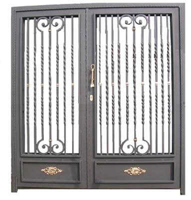 Puerta met lica doble materiales para la construcci n for Modelos puertas metalicas para casas