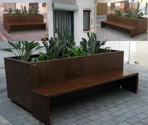 Jardineras multifuncionales mart n mena reciclaje y for Mobiliario de jardin moderno