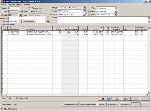 Management software for distributors of spare parts Isi Condal ...