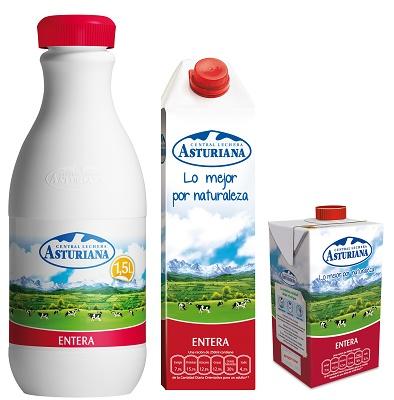 Leche entera de vaca Central Lechera Asturiana ...