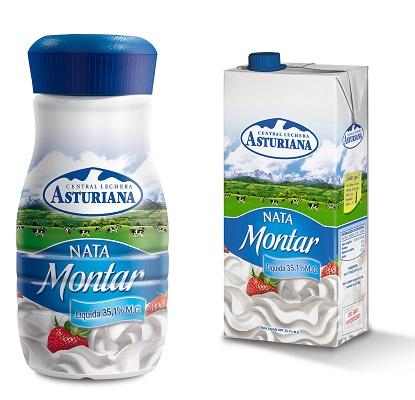 Nata para montar central lechera asturiana distribuci n - Nata liquida para postres ...