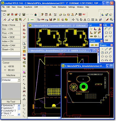 Programming software for punching and cutting machines Metalix