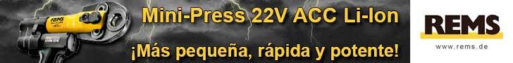 Remms: Mini-Press 22V ACC Li-Ion ¡Más pequeña, rápida y potente!