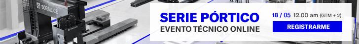 Soraluce: evento técnico online serie pórtico el 18/
